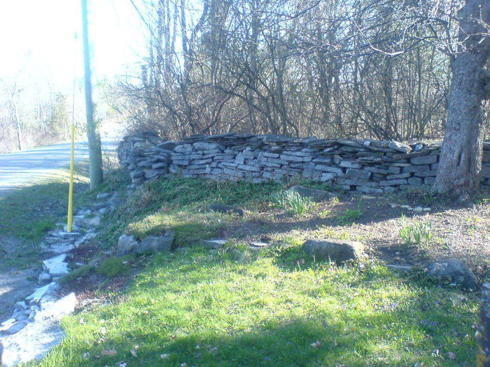 eastern ontario limestone wall rebuild