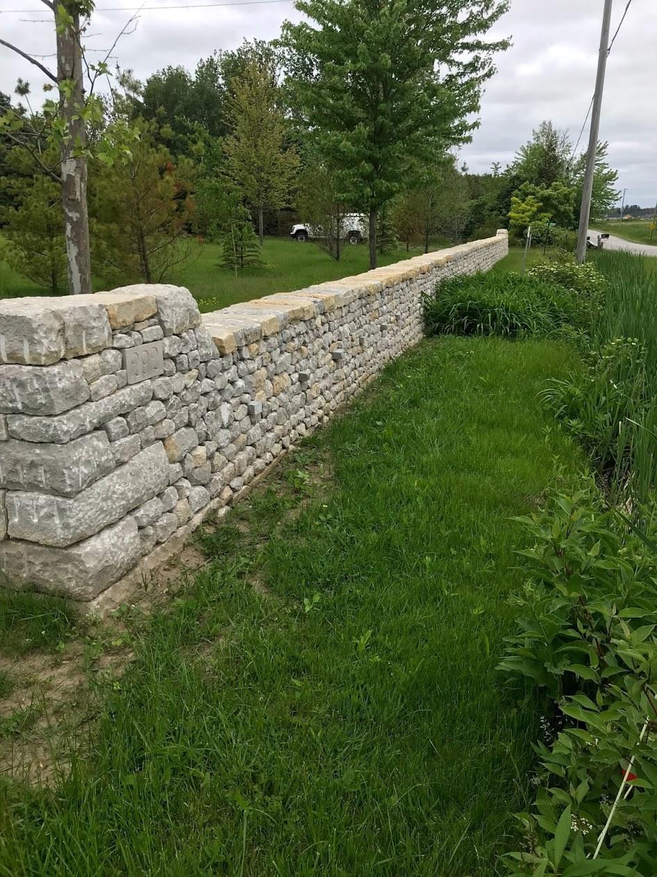 ontario canada limestone boundary wall