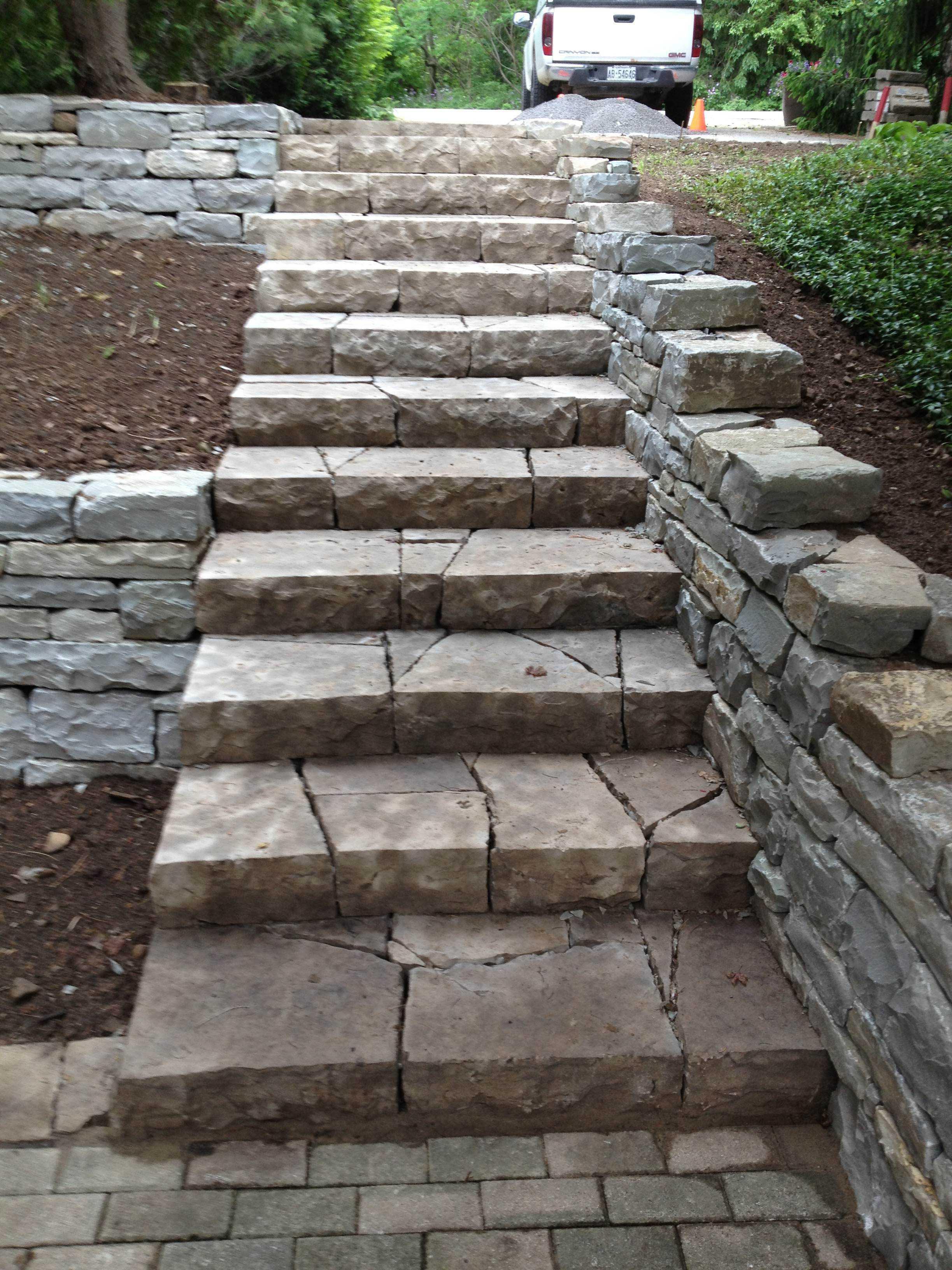 dundas ontario stone steps retaining wall