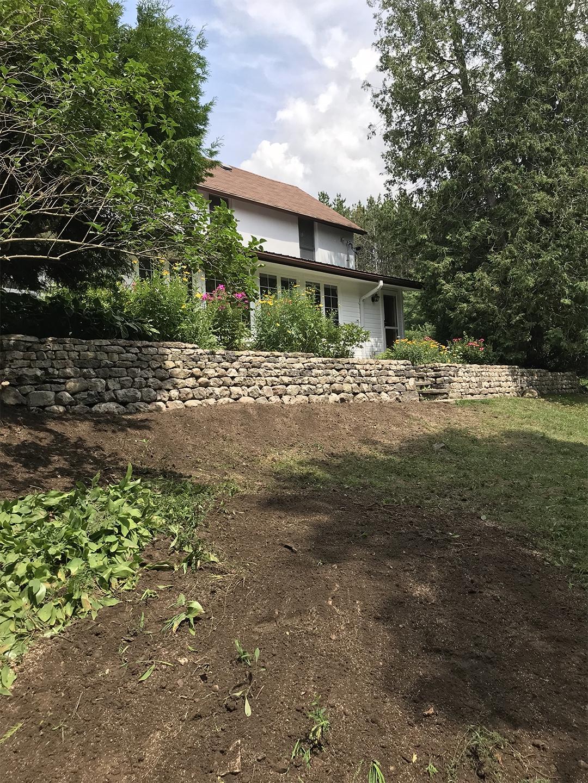 field stone wall restoration rebuild retaining