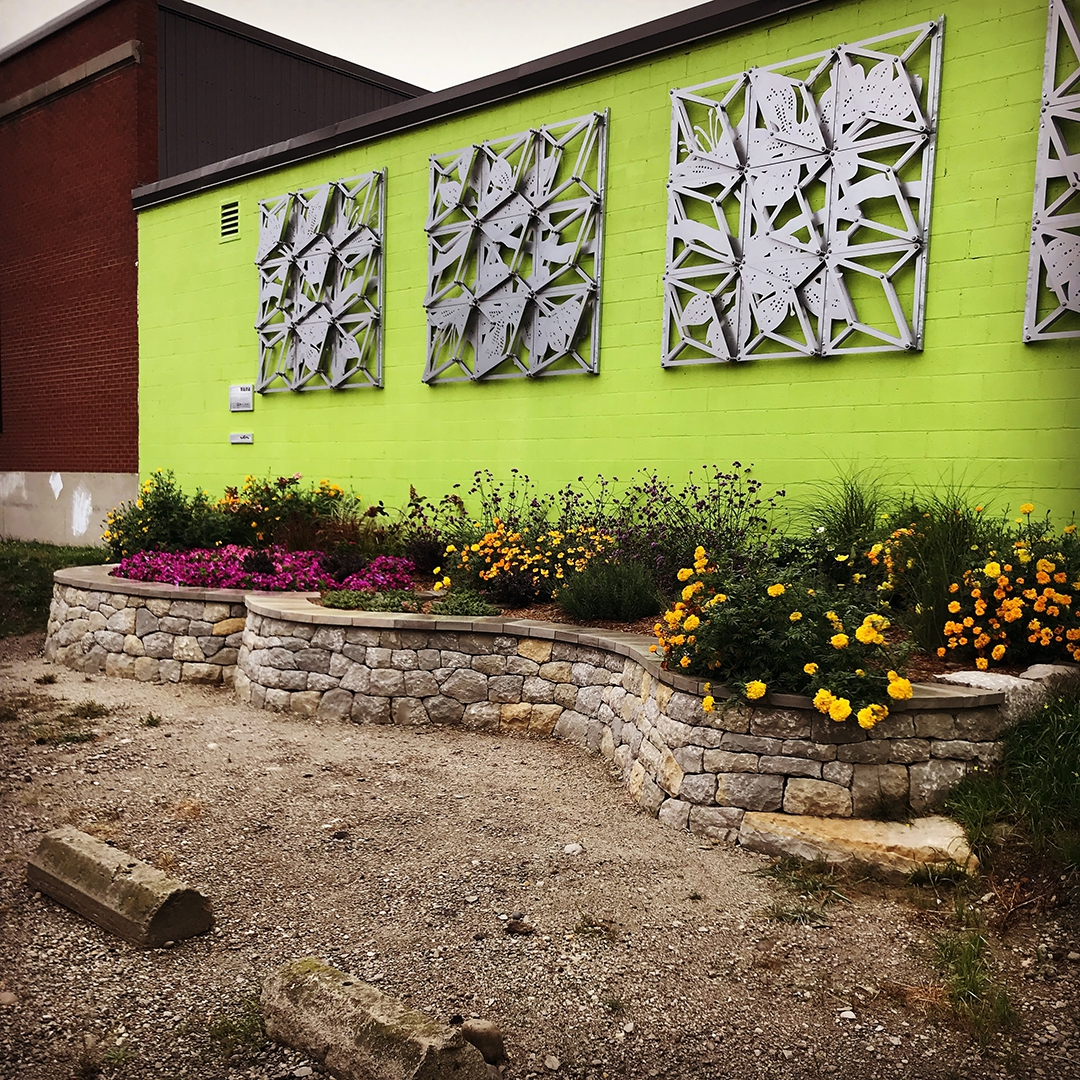 public art kitchener ontario stone garden