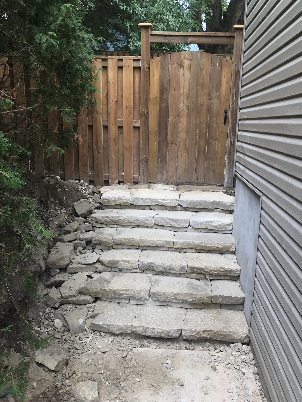 limestone steps stairs walkway kitchener ontario