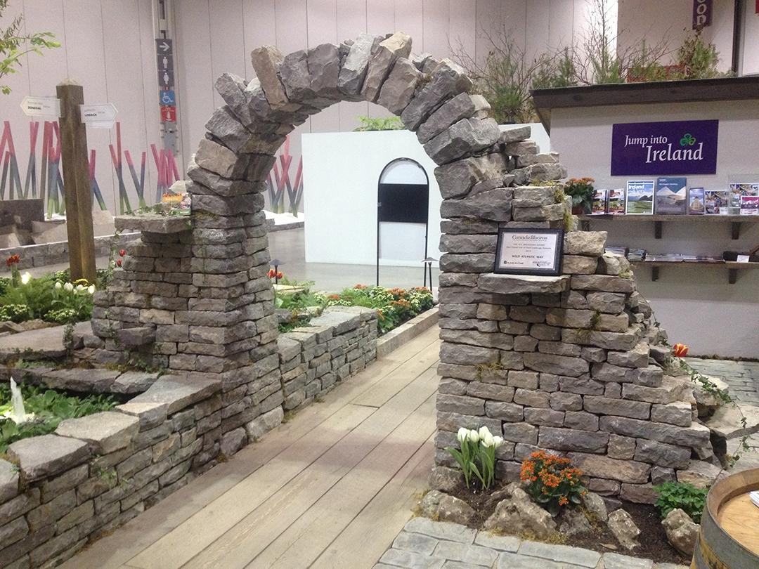 landscape ontario garden show stone features